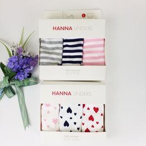 NWT Hanna Andersson   6pc Girls Underwear, 10-12